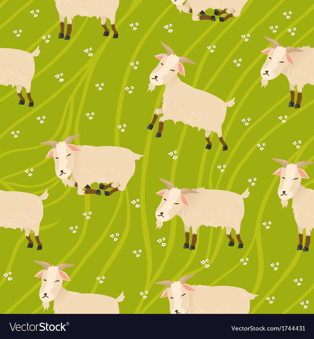 Seamless goats background vector image