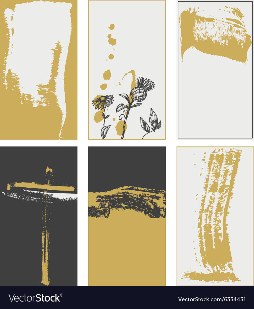 Stylish grunge cards backgrounds trendy colors