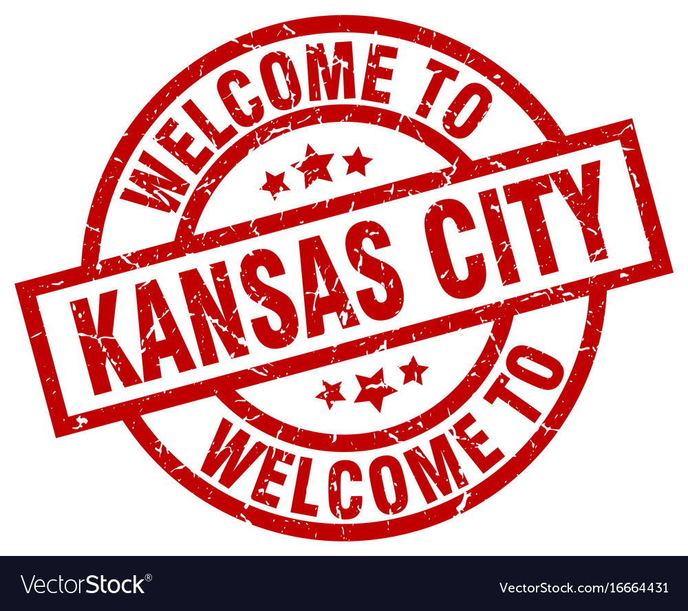 Welcome to kansas city red stamp vector image on VectorStock
