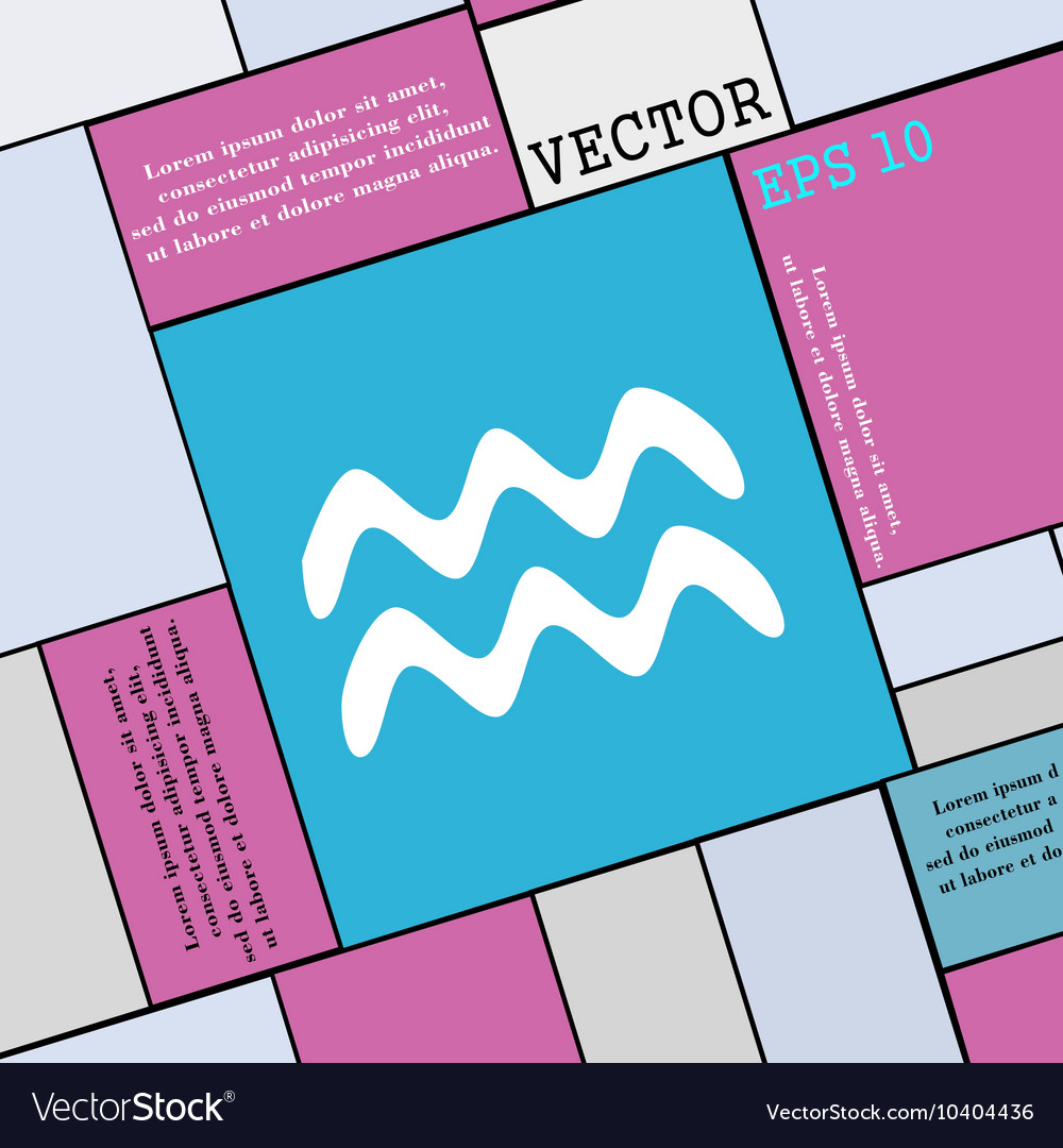 Aquarius icon sign Modern flat style for your
