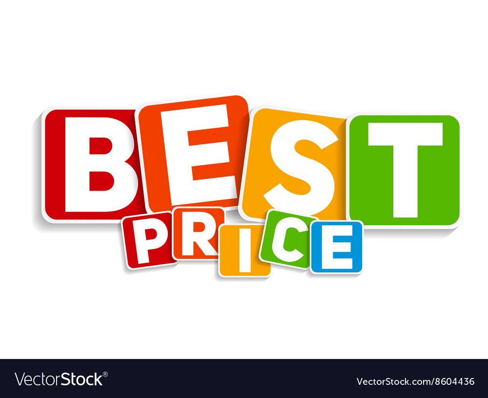 best price sign template royalty free vector image
