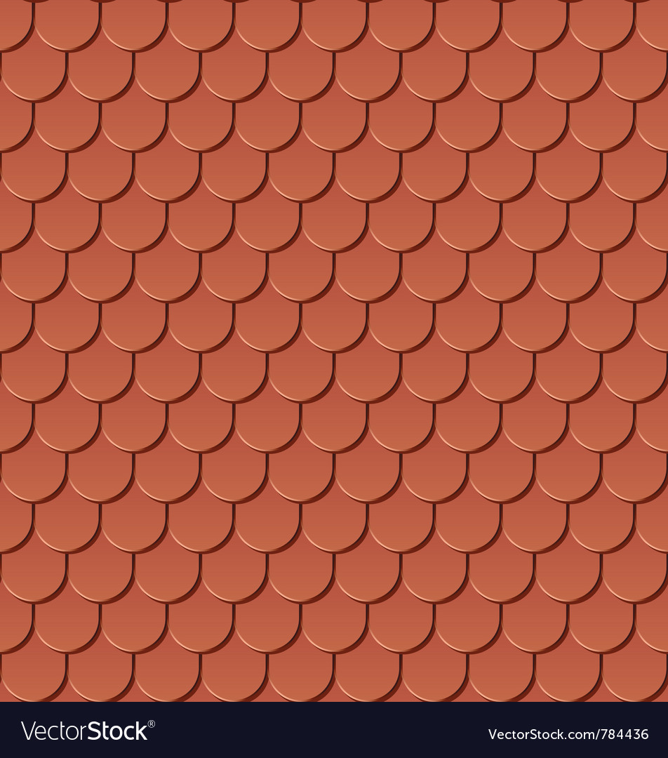 Clay Roof Tiles Royalty Free Vector Image Vectorstock