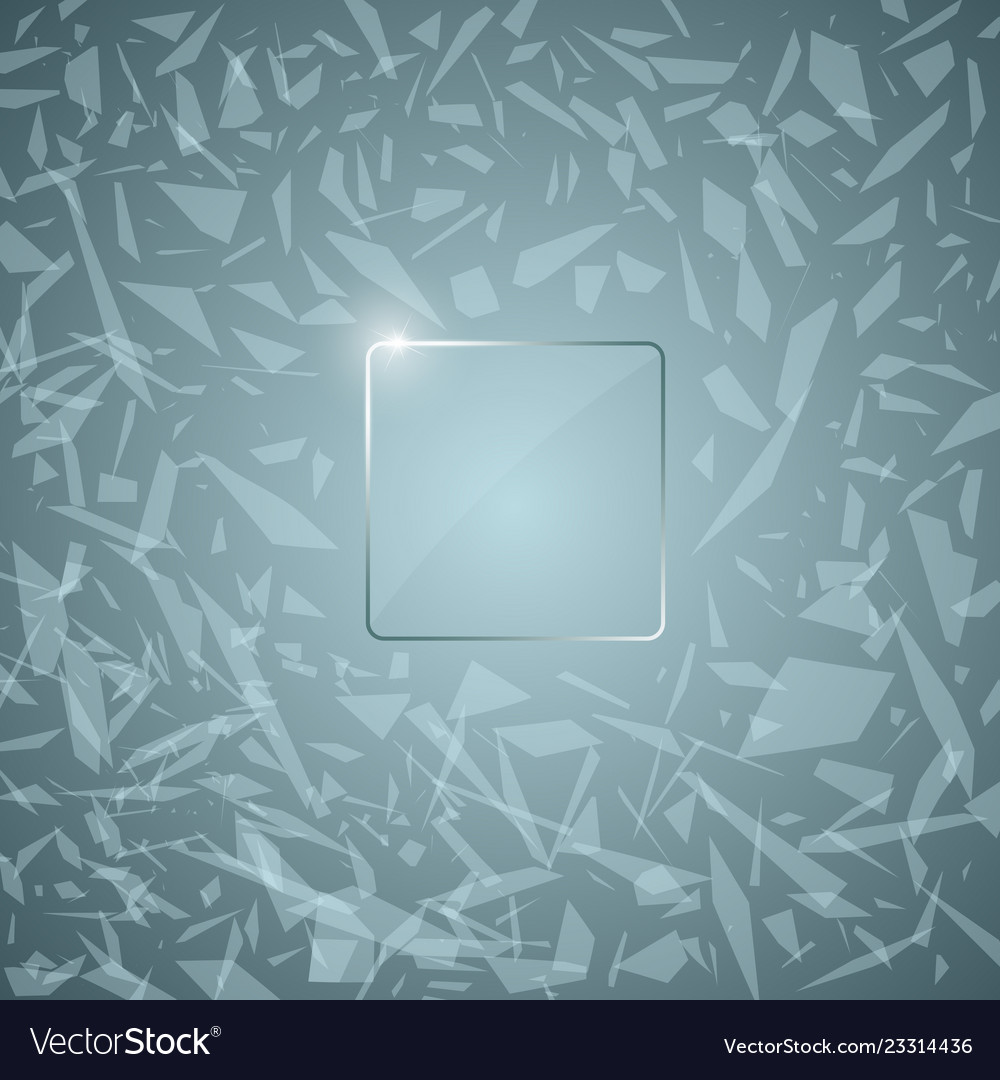 Glass panel abstract broken glass