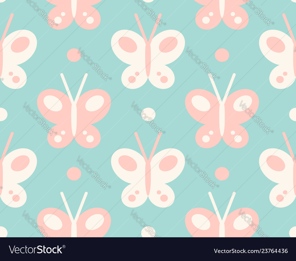 Pattern with colorful butterflies