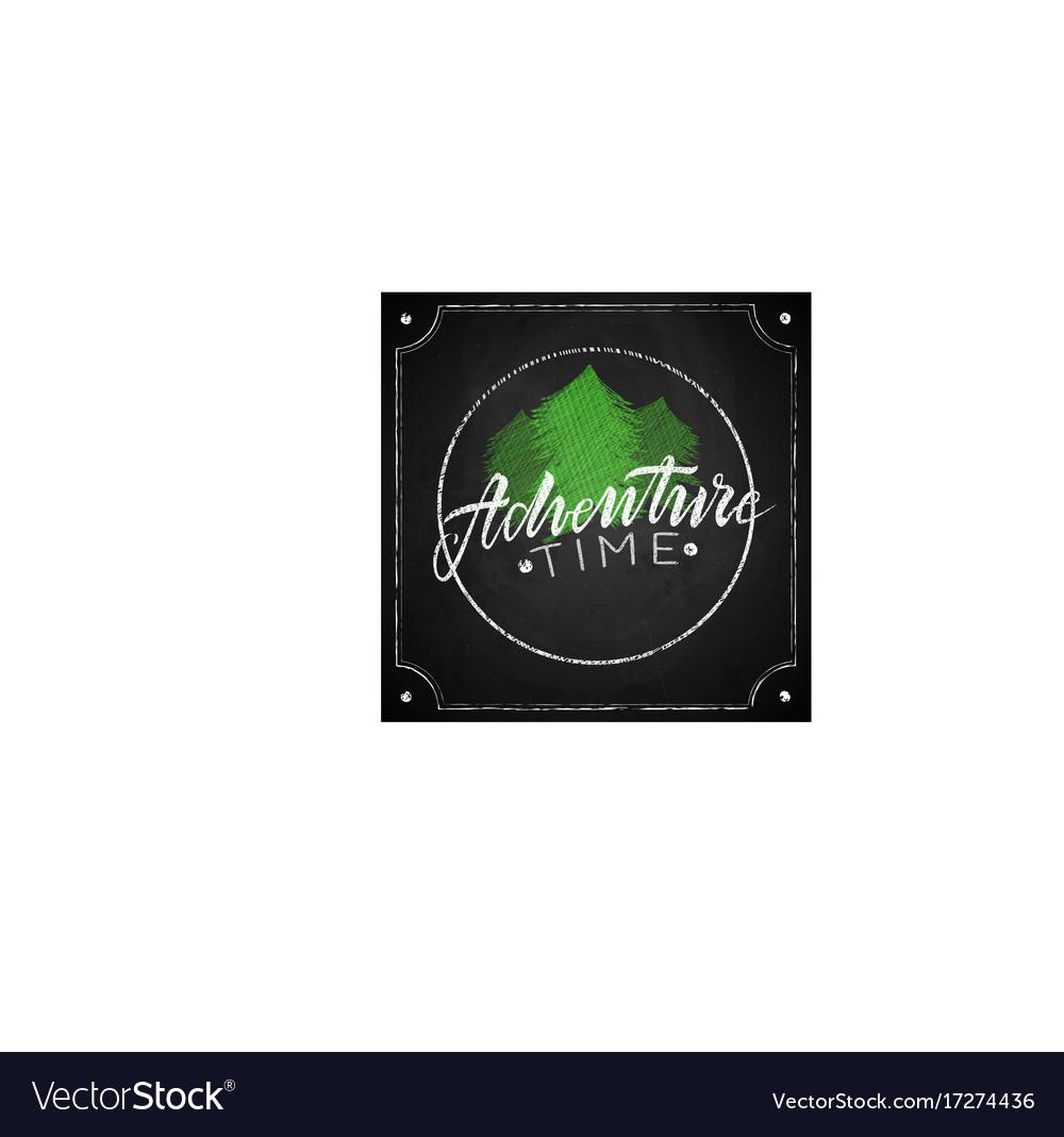 Retro emblem adventure