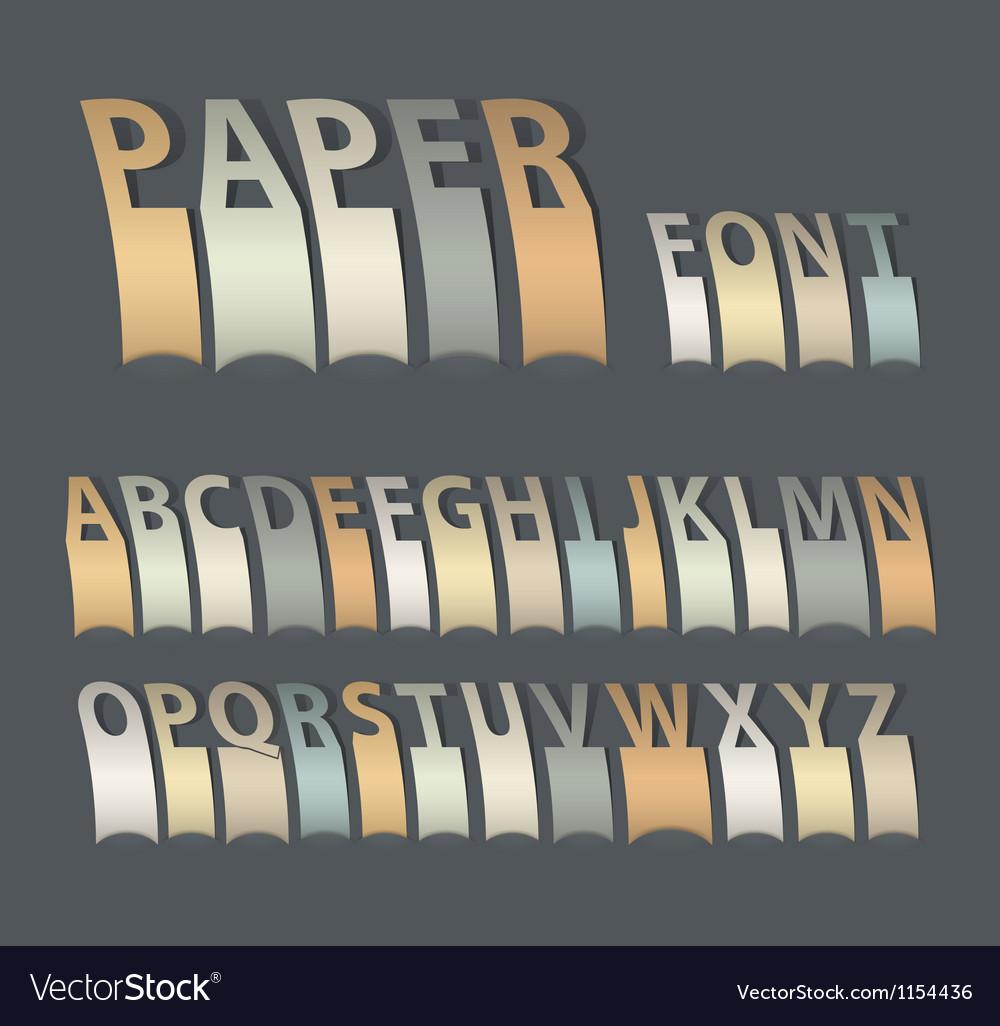 Vintage paper font