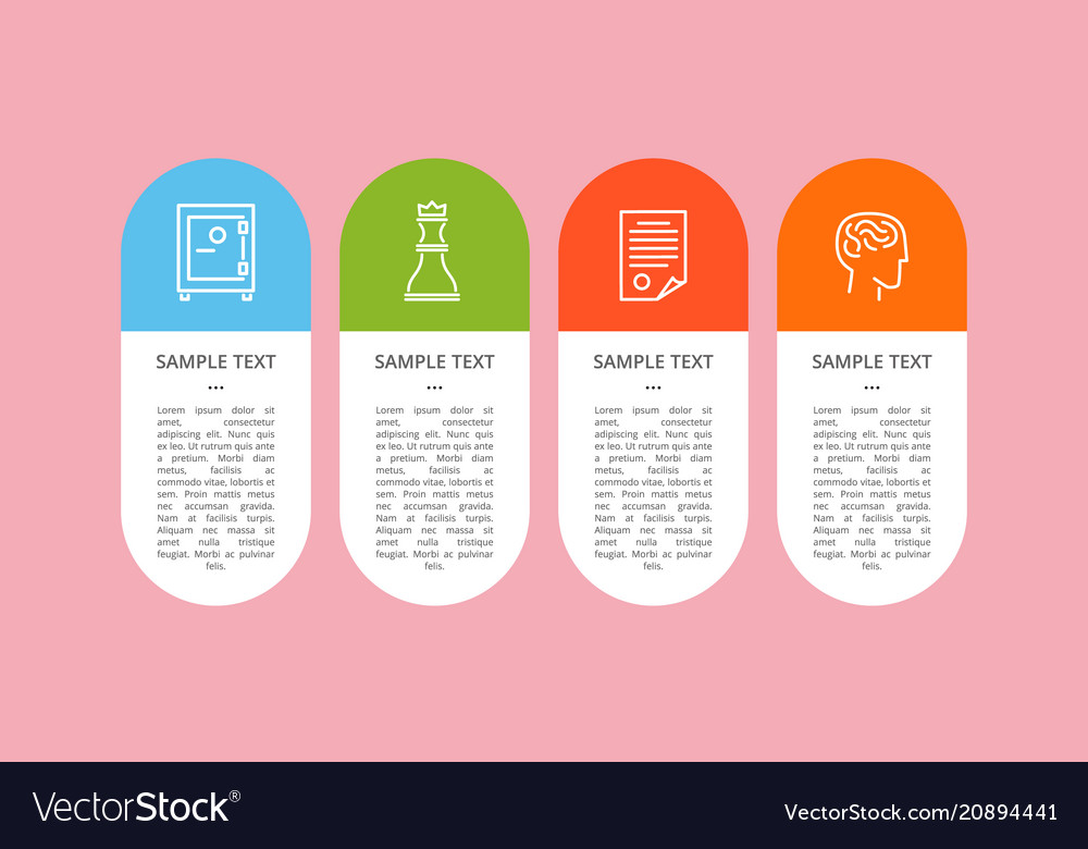 Set colorful icons isolated on pink backdrop