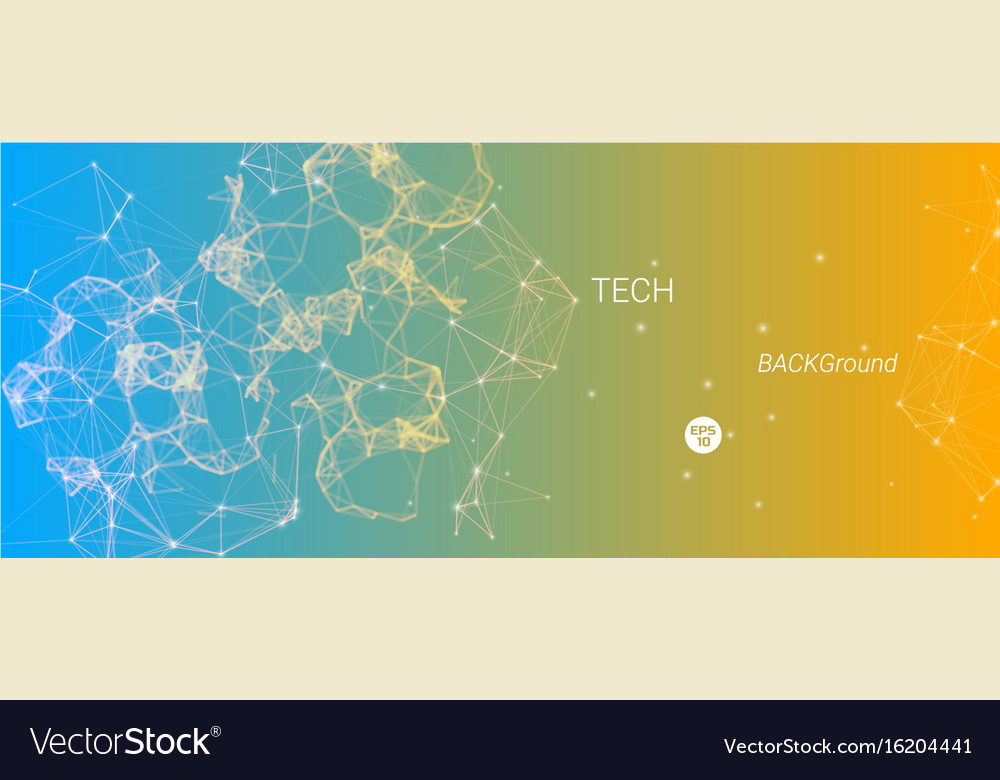 Technological banner vector image