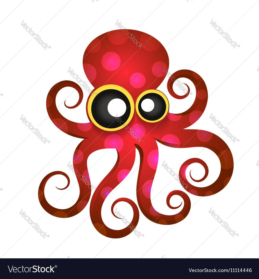 Beautiful tropical octopus