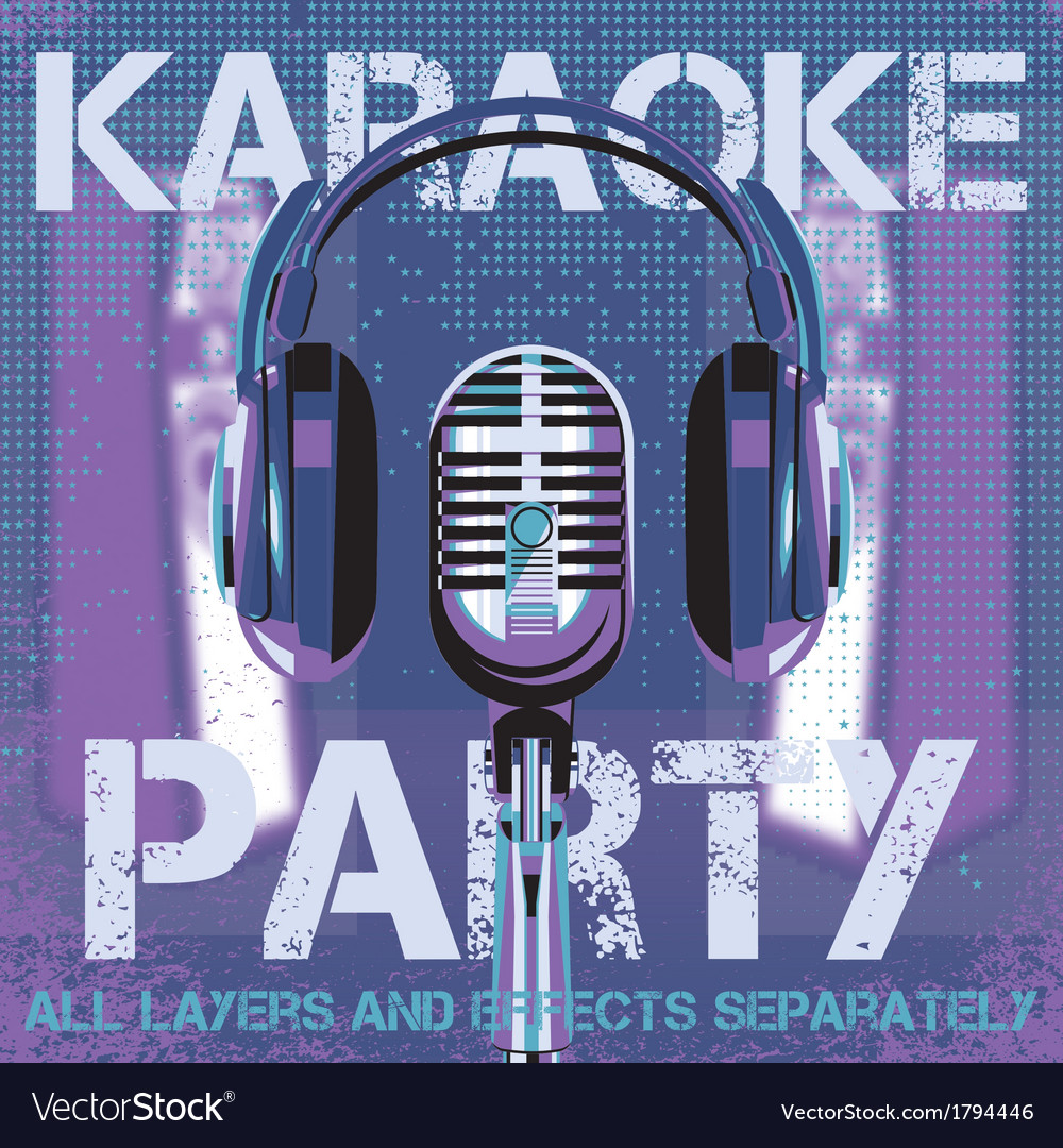 Bmicrophone and headphones for karaoke party