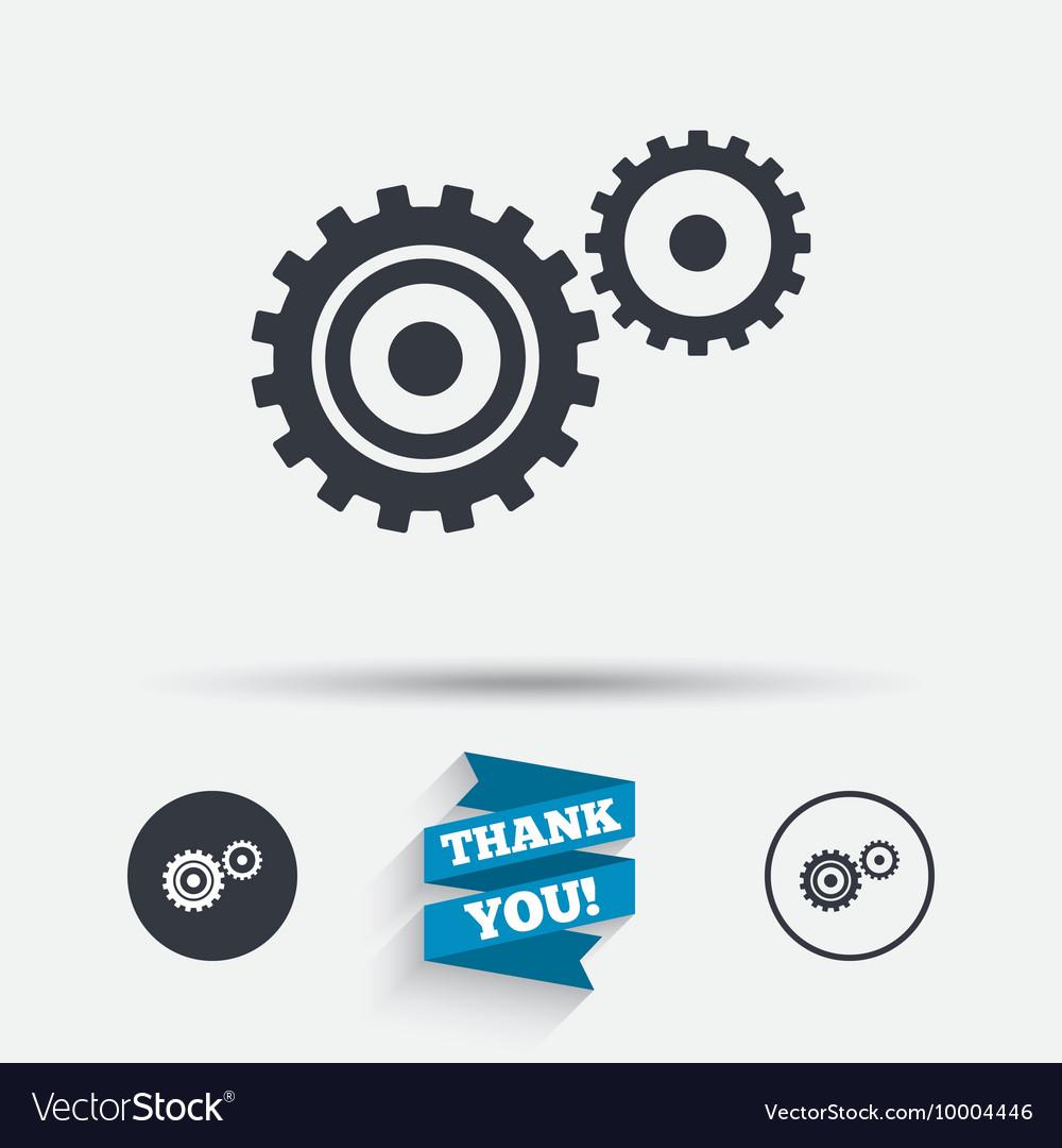 Cog settings sign icon cogwheel gear symbol
