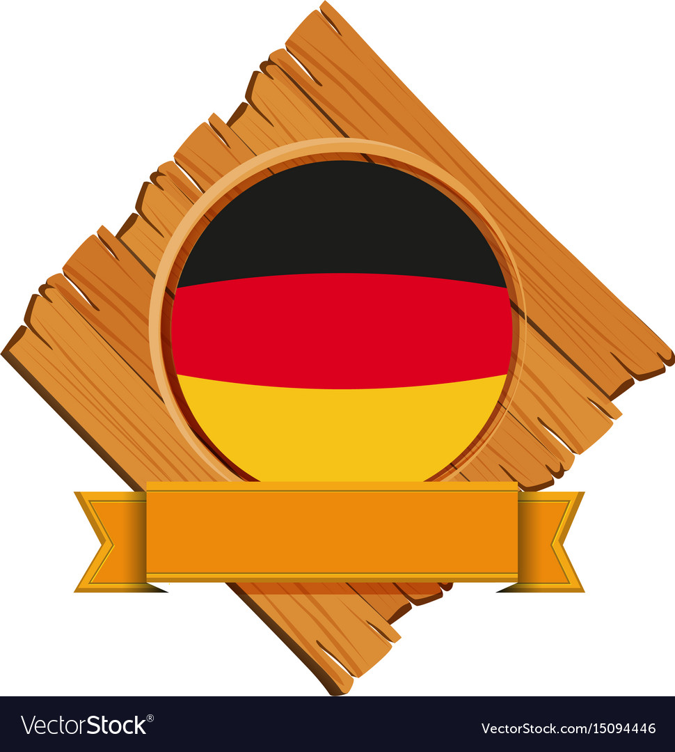Flag of germany on wooden board