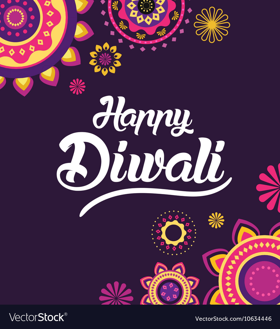 Happy Diwali greeting card for Indian festival