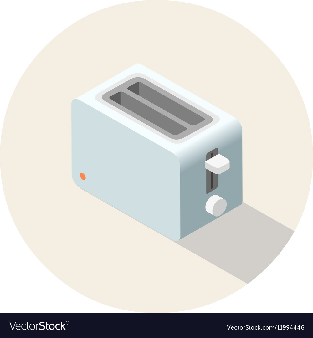 Isometric toaster kitchen equipment icon vector image
