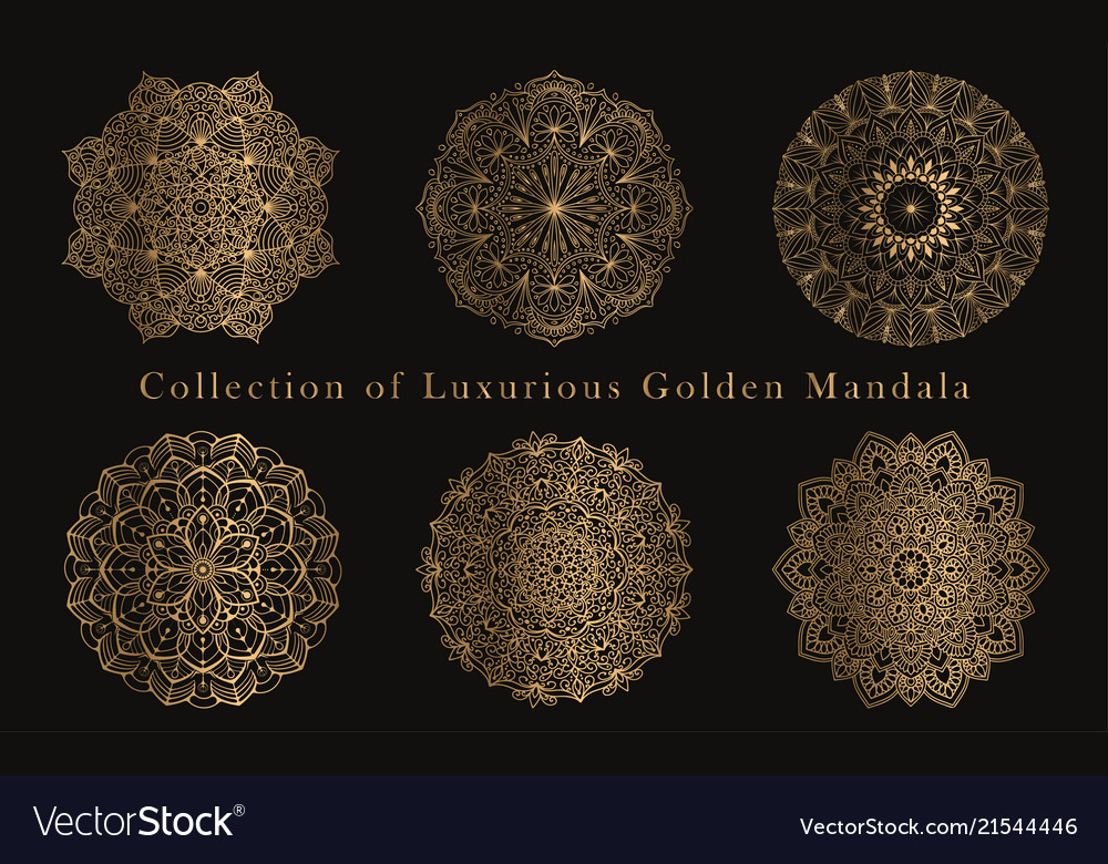 Mandala round ornaments luxury design set