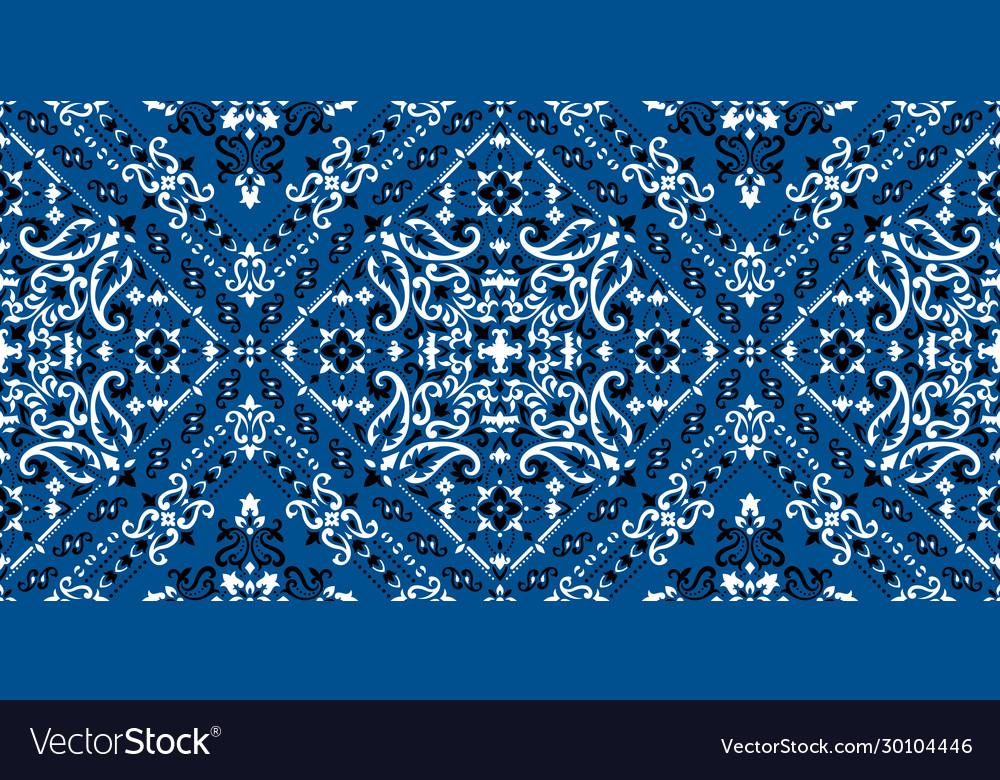 Rectangular seamless bandana print design