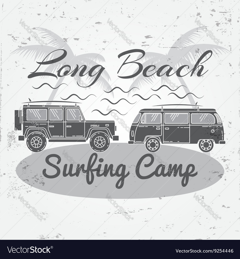 Surfing concept for shirt or logo print stamp For