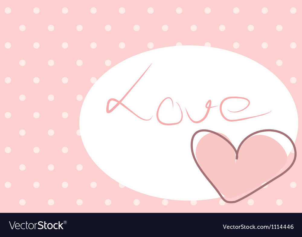 sweet love pink heart with polka dots background vectorstock