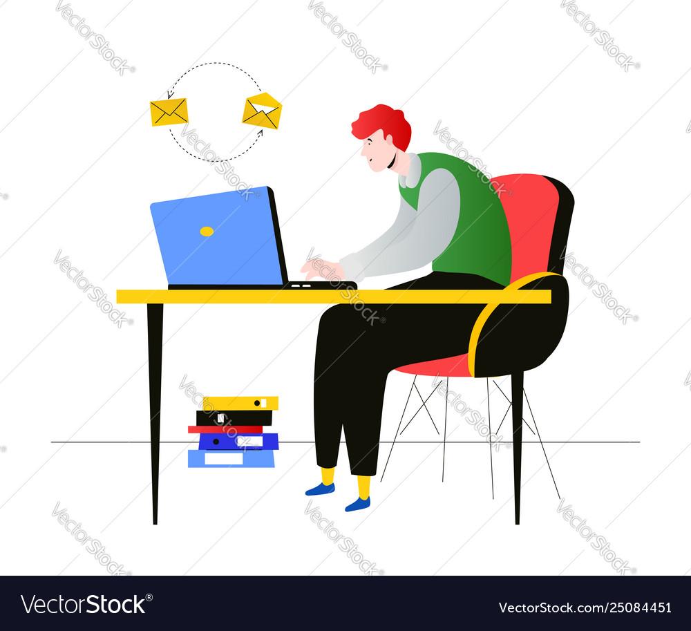 Freelance worker - modern flat design style