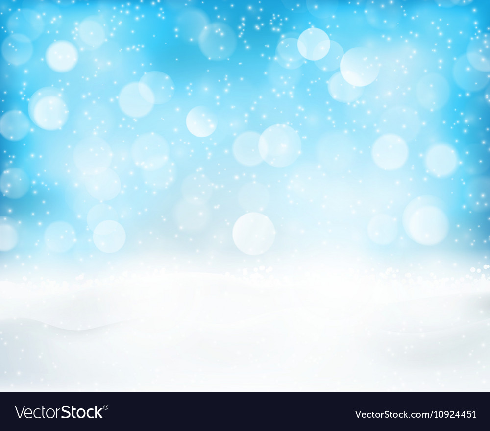 Light blue winter holiday bokeh background