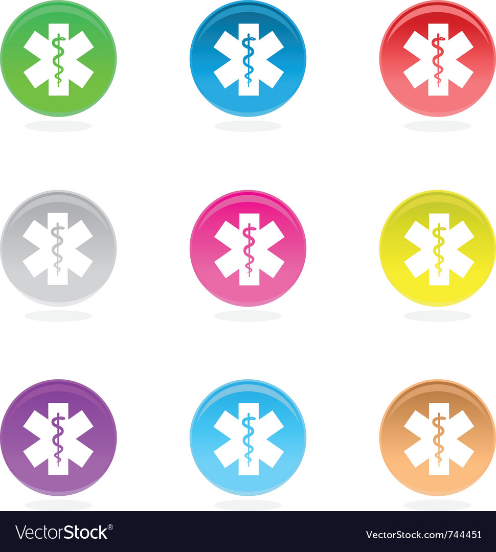 Medical symbol icons