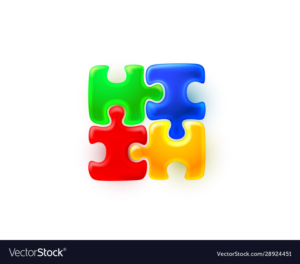 Puzzle colored sign group art game icon idea