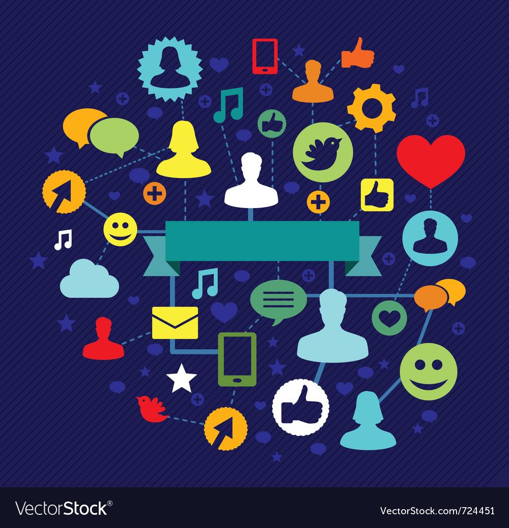 Social media concept - illustation vector image