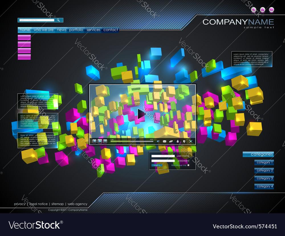 Technology website template
