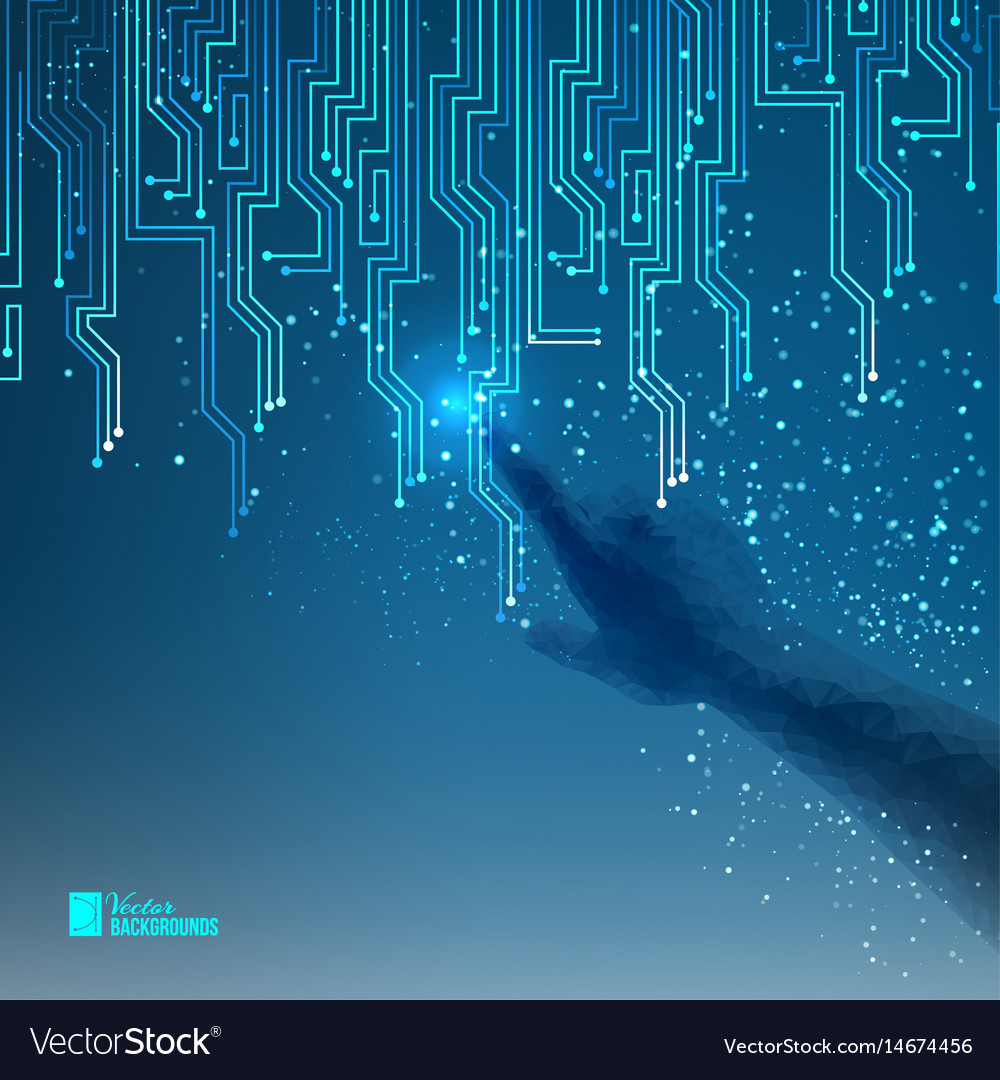 Abstract blue electrical circuit Royalty Free Vector Image