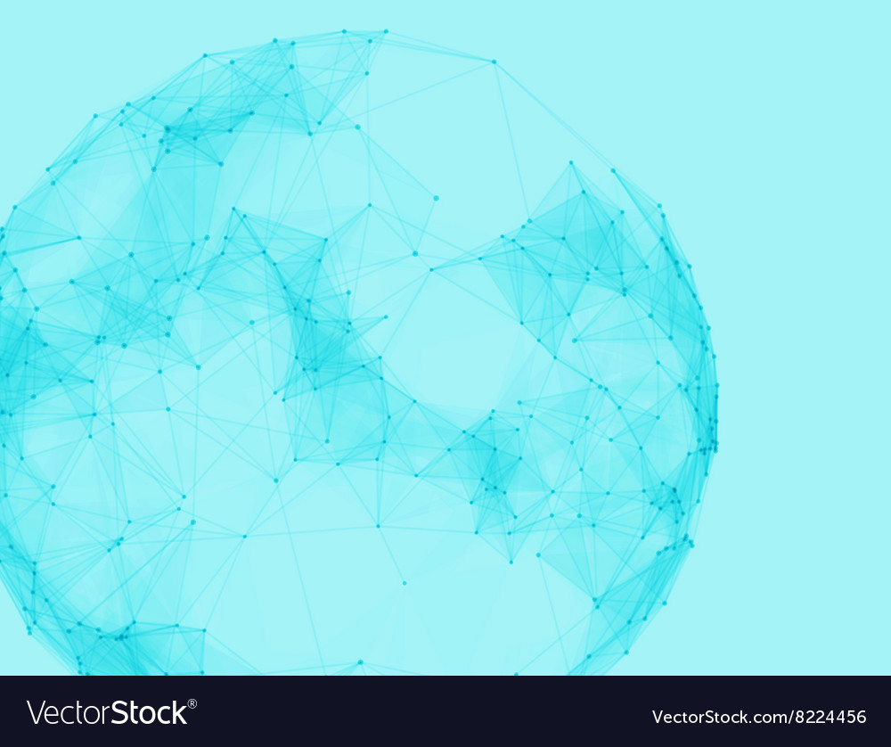 Abstract polygonal spheres Futuristic