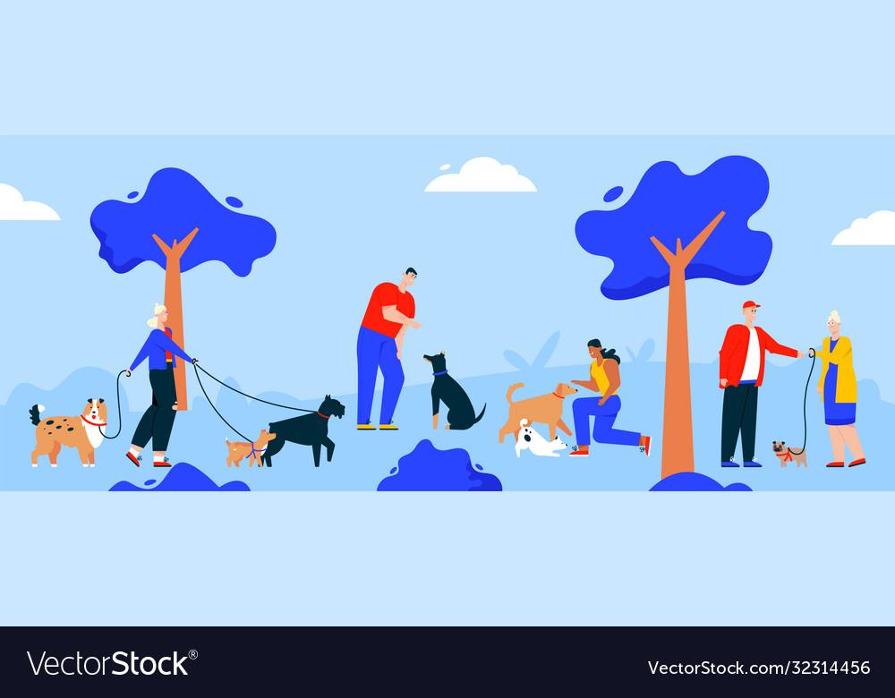 Character people walking