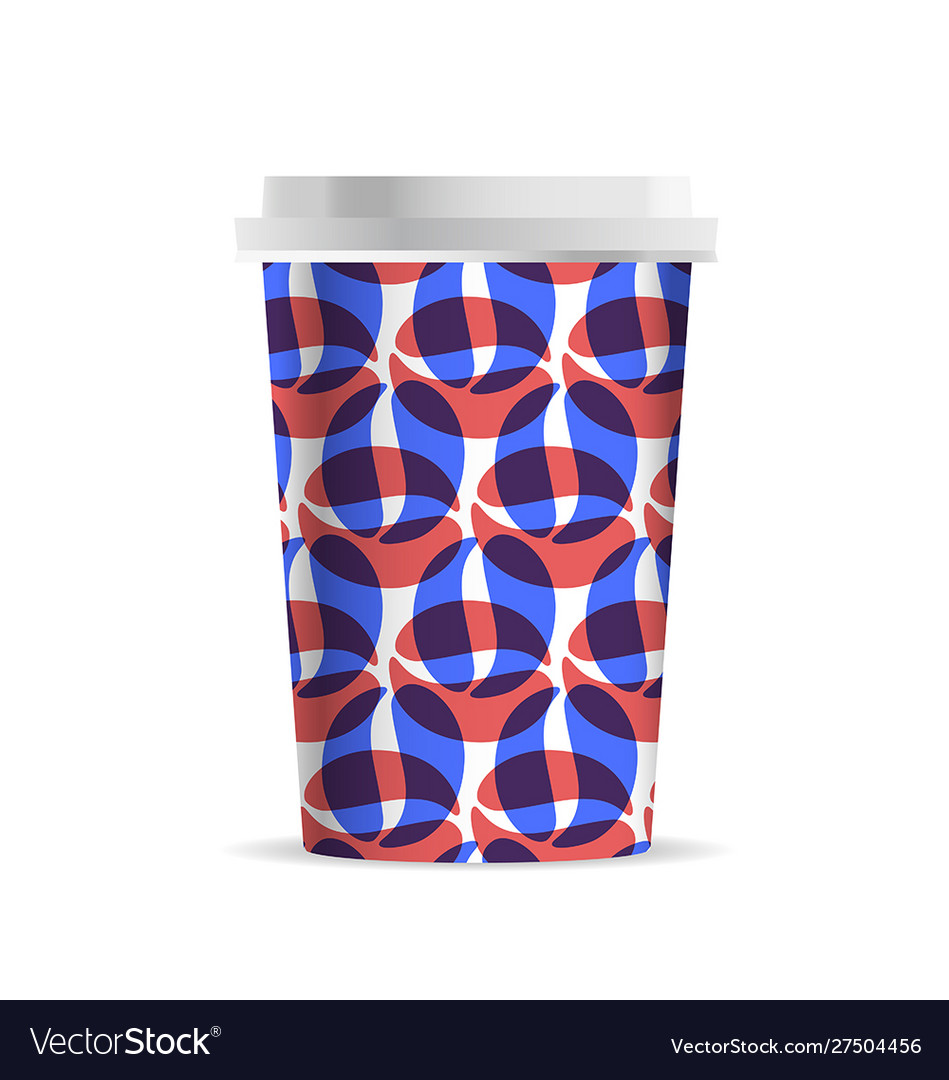 Coffee cup template with coffee