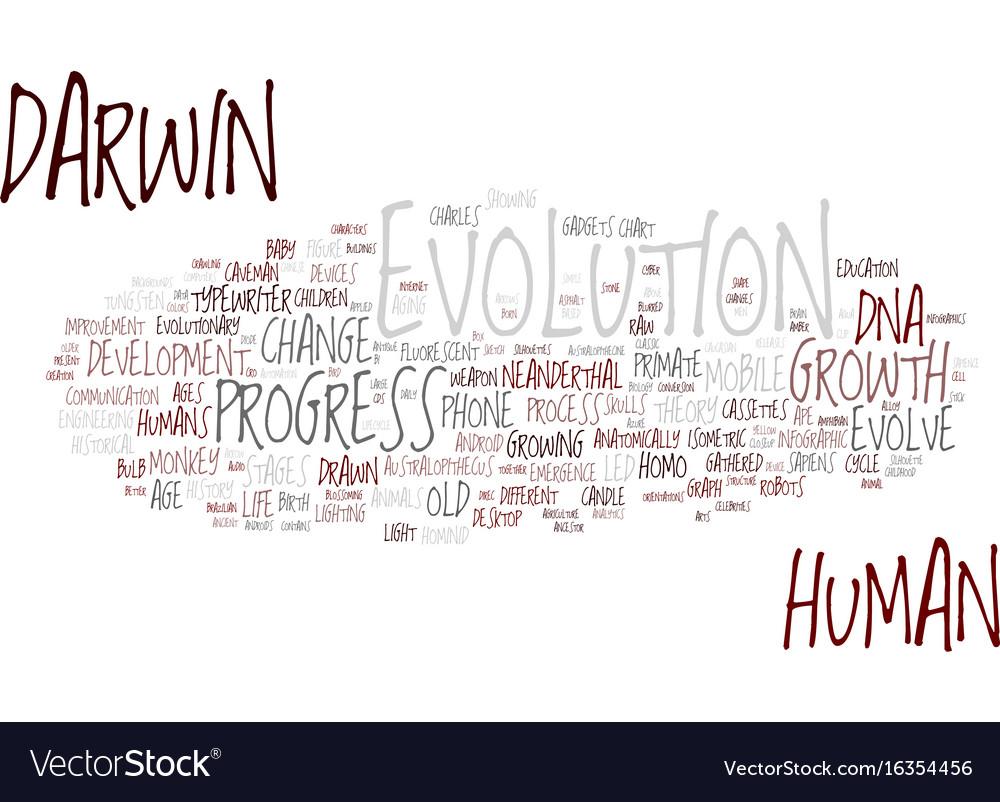 Evolution word cloud concept