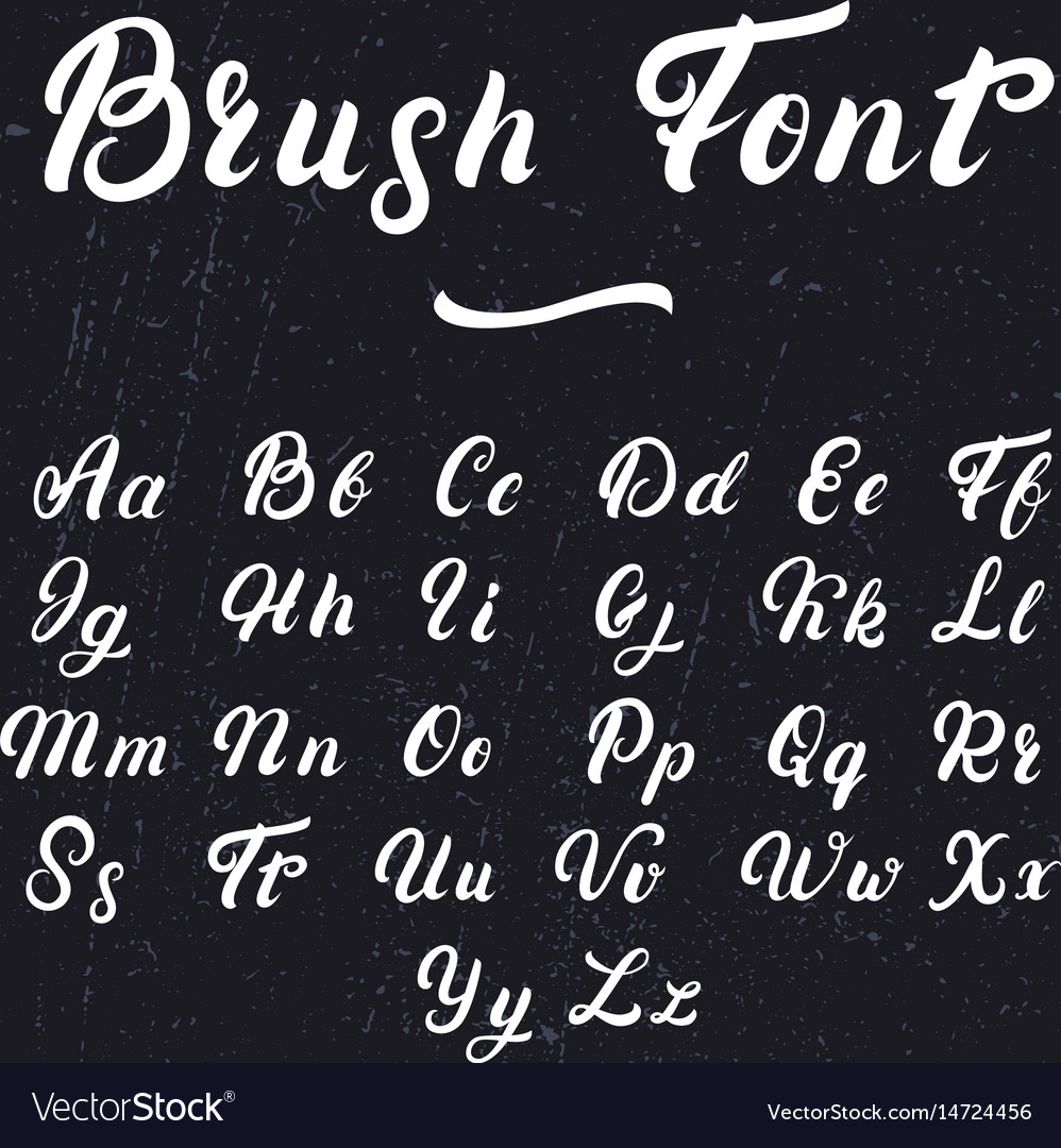 Hand written lettering font