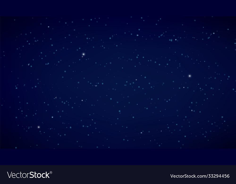 Night starry sky dark blue background space