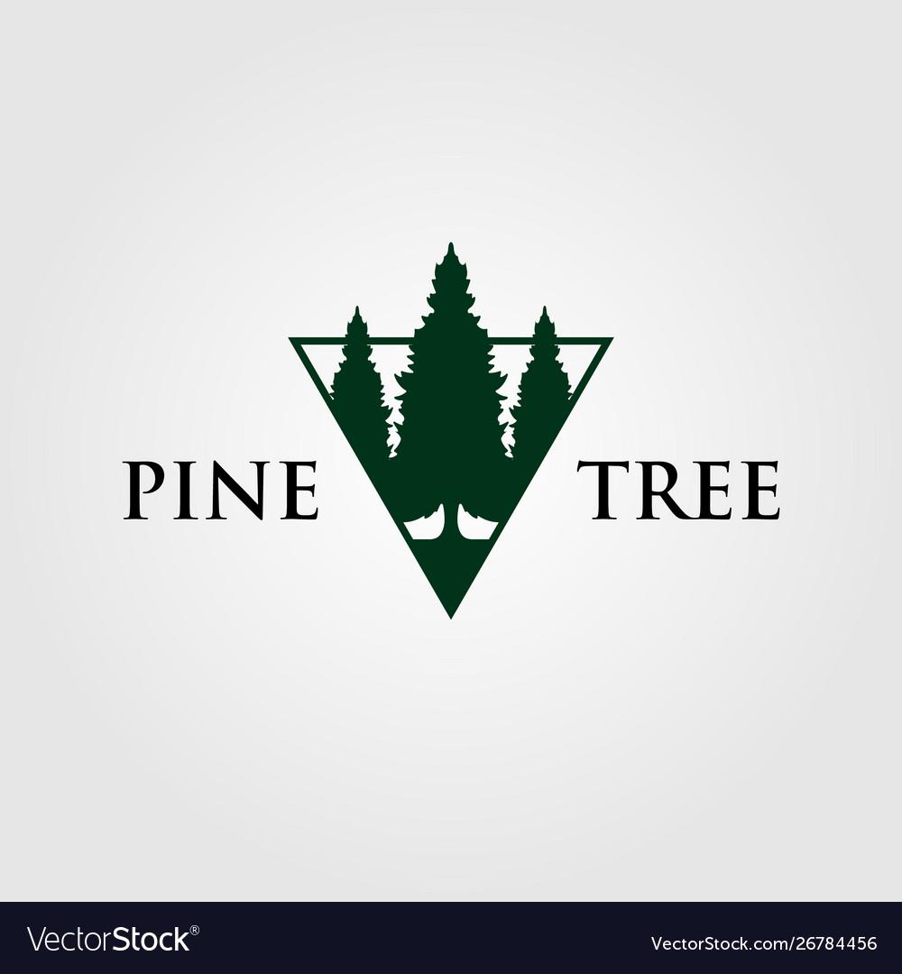 Triangle pine tree or fir logo evergreen