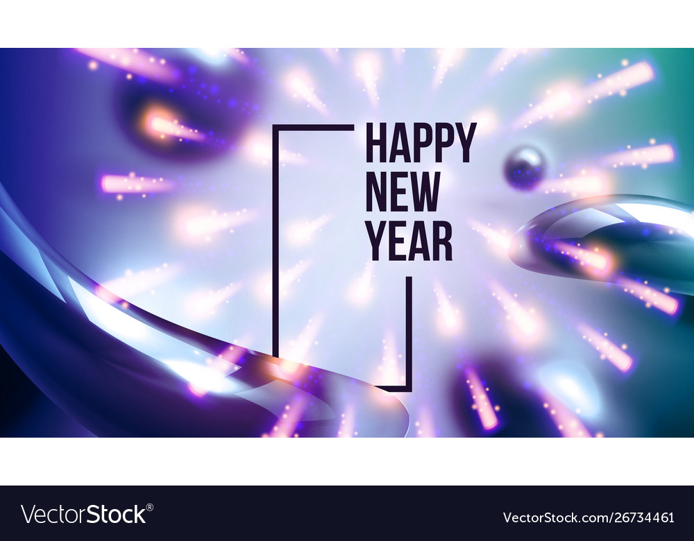 Celebrating happy new year invite banner