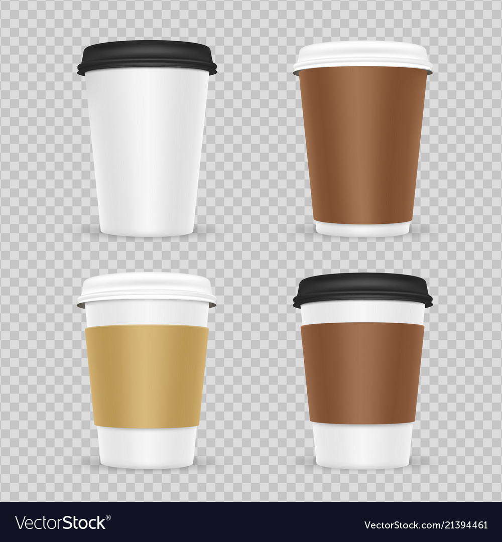 Coffee paper cups realistic