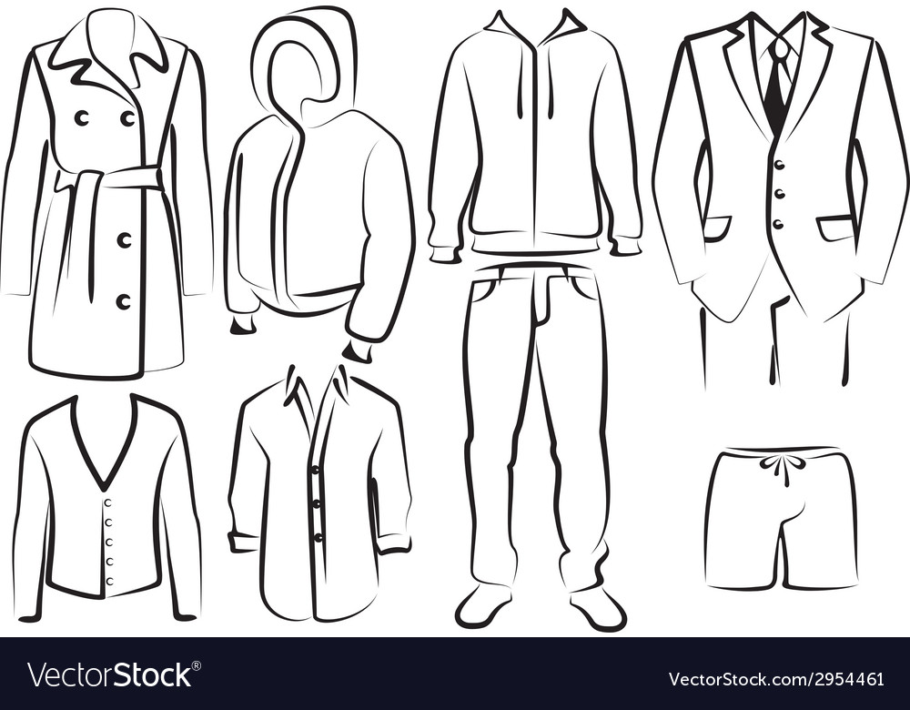 Collection of mens clothes
