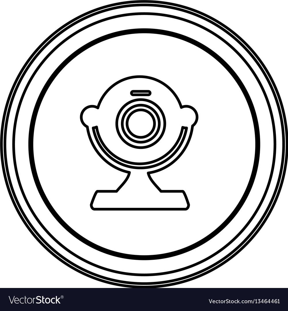 Contour emblem computer camera icon