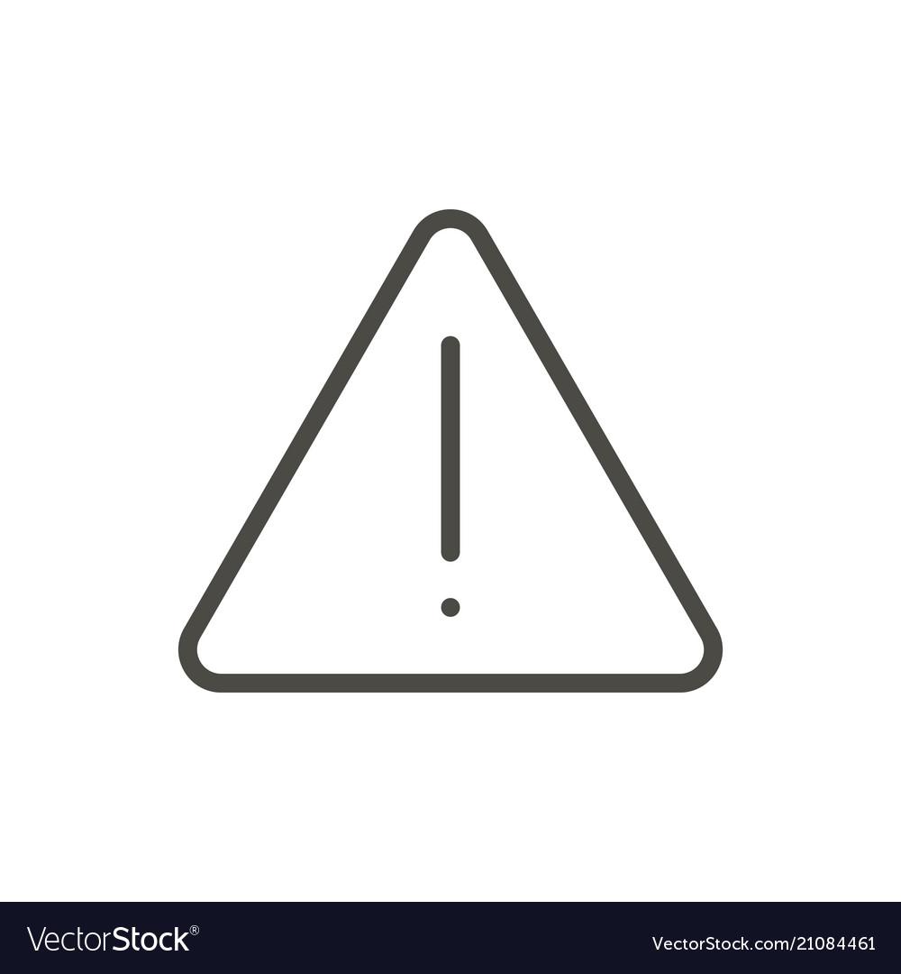 Danger icon line warning symbol
