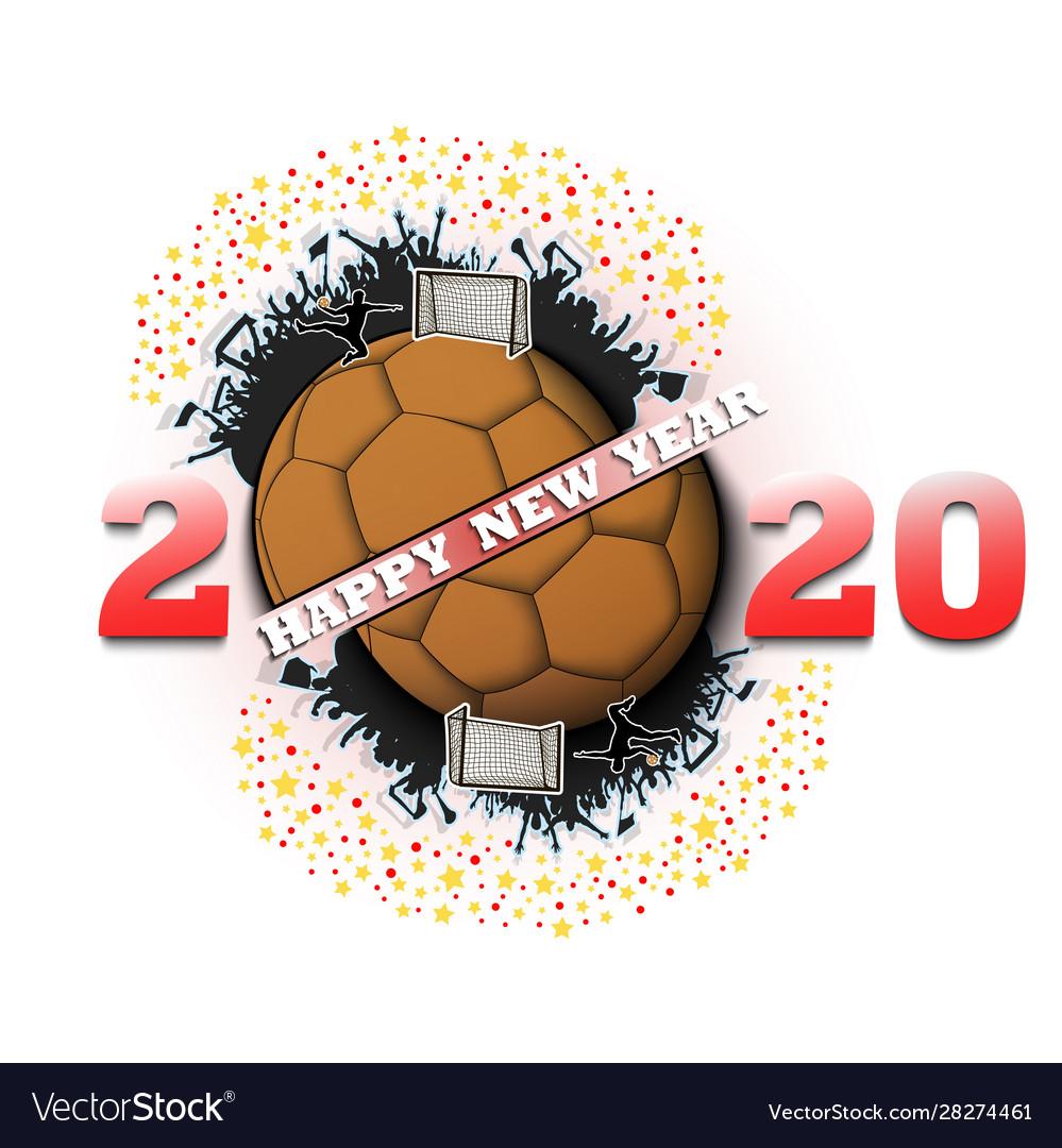 Happy New Year 2020 And Handball Ball