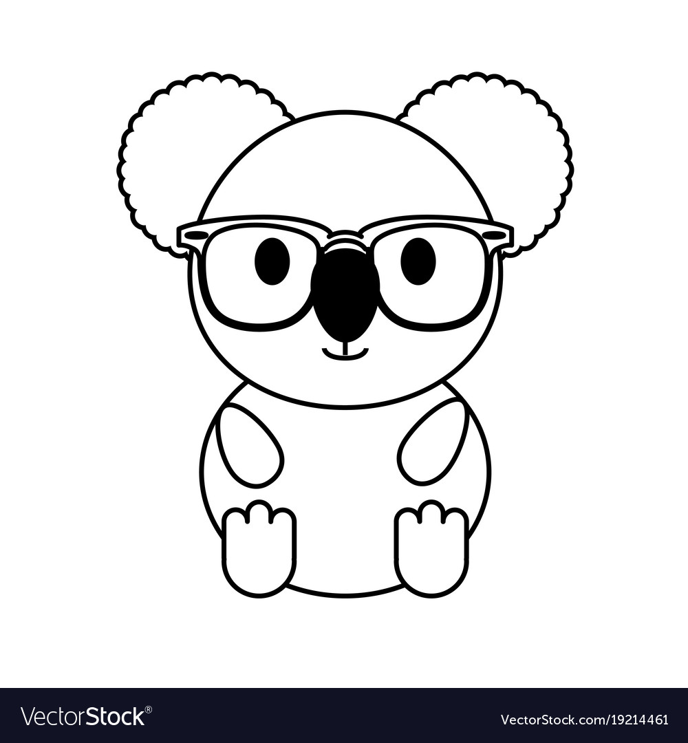 Koala with glasses vector image