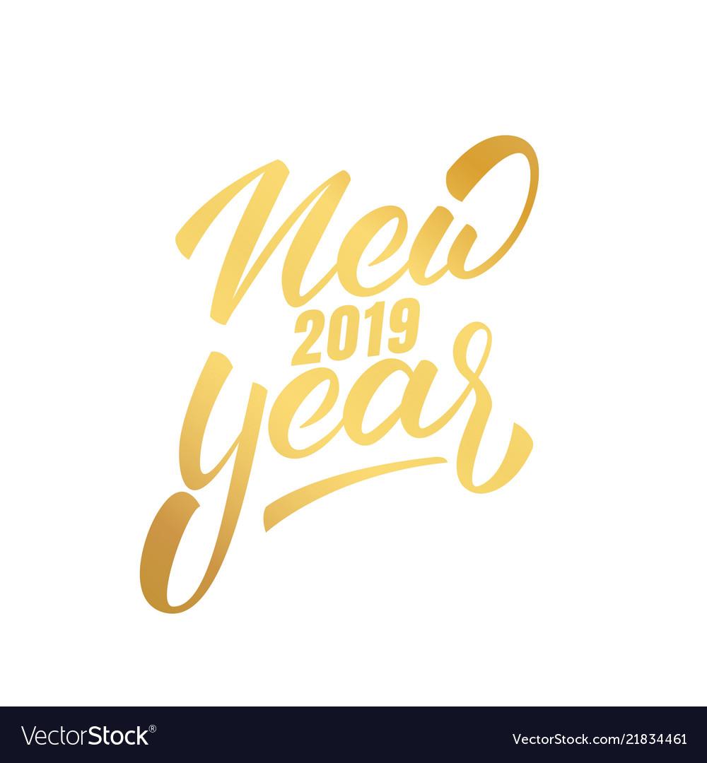 Happy New Year Logo 2019 44