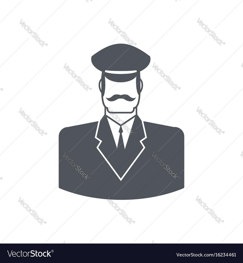 Porter icon concierge sign guard at entrances of