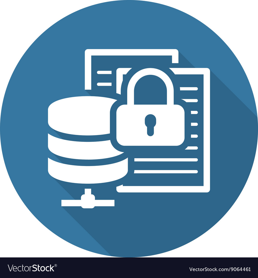 secure file storage icon flat design royalty free vector