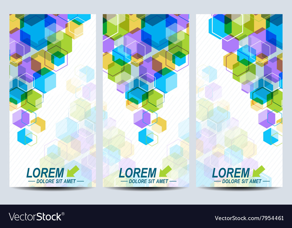 set of the flyers background with colorful vector image
