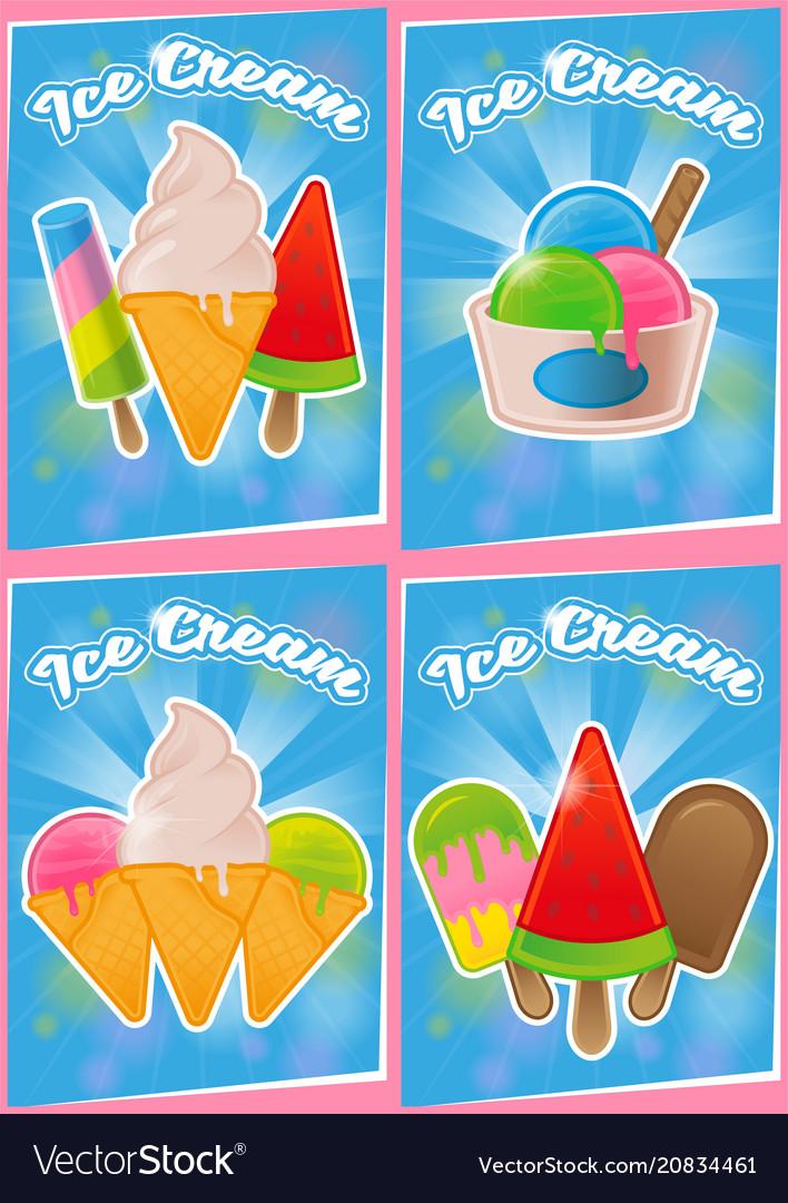 Set poster ice cream