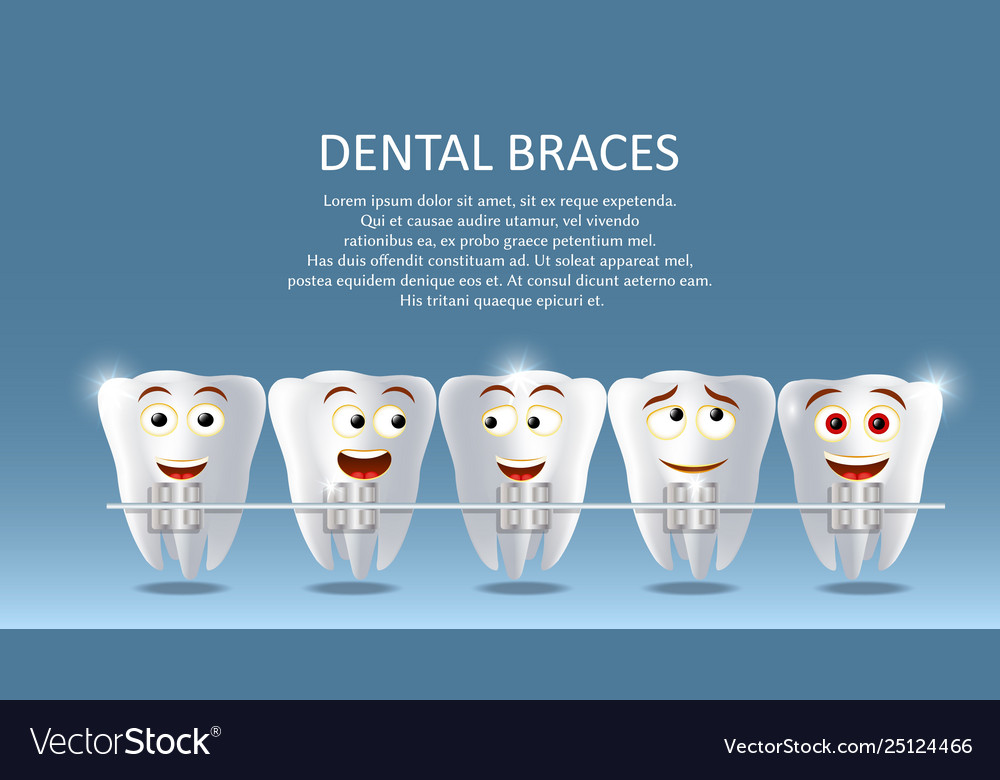 Dental braces concept poster banner