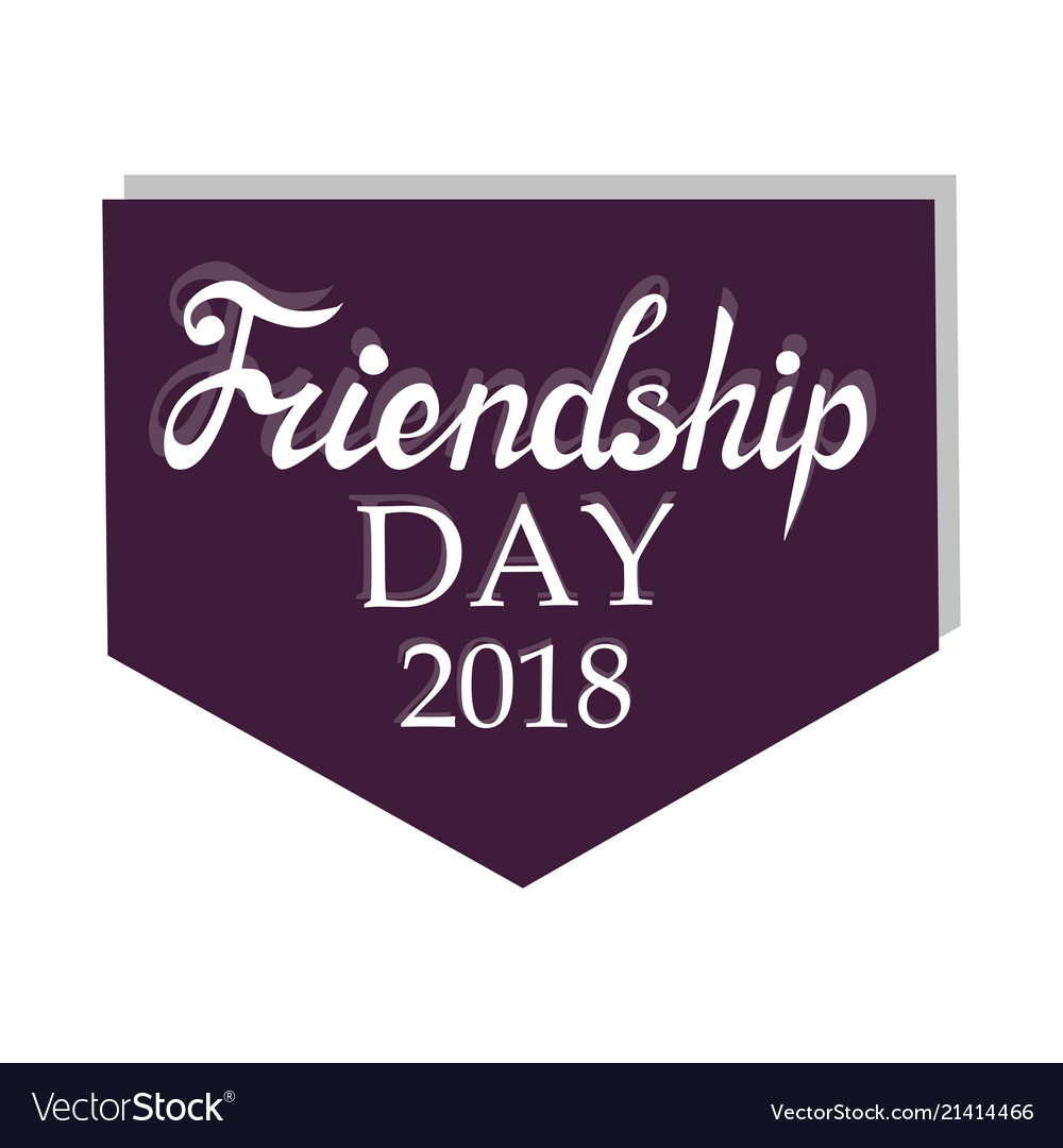 For Friendship Day Greeting Cards Royalty Free Vector Image